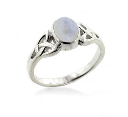 celtic moonstone ring
